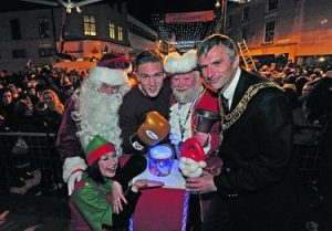 hire Santa for Christmas Parades, Santa for Christmas Light Switch ons