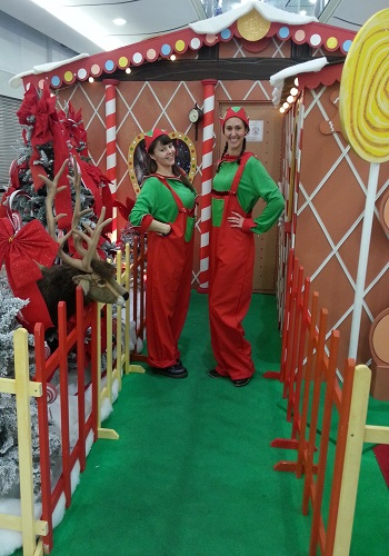 hire elfs for shopping centre promotions