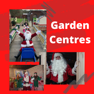 hire santa for a garden centre grotto